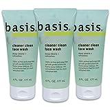 Basis Cleaner Clean Face Wash, 6 fl. oz. (Pack of 3)