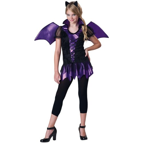 InCharacter Costumes Girls Bat Reputation Costume, Purple/Black, -