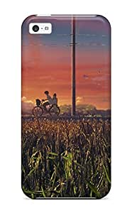 Cute Appearance Cover/tpu QvmYmnv9630wmlAm Brunettes Sunset Clouds Landscapes Bicycles Scenic Seifuku Anime Isai Shizuka Case For Iphone 6 4.7''