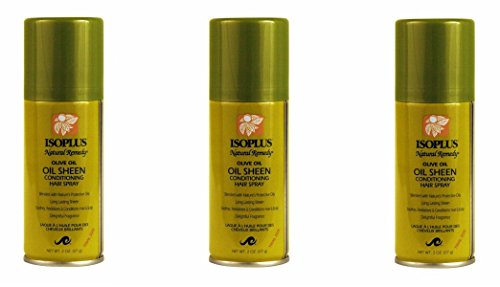 ([VALUE PACK OF 3] ISOPLUS NATURAL REMEDY OLIVE OIL SHEEN CONDITIONING SPRAY 2oz)