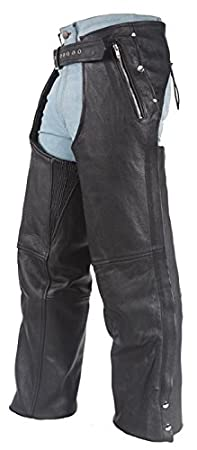 Leather Motorcycle Chaps with Removable Liner 9XL Billys Biker Gear