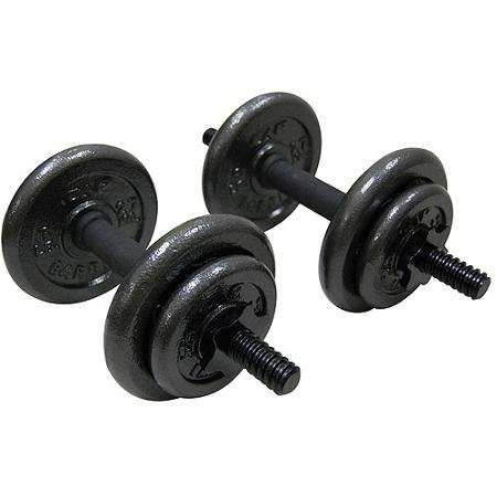 Gold's Gym Adjustable Cast Dumbbell Set, 40 Lbs Set Features Ergonomic Grips, Comfort Handles