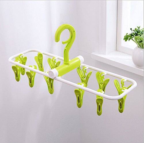 inoutdoorkit-fph12-folding-travel-clip-drip-socks-hangers-portable-plastic-clothes-underwear-laundry