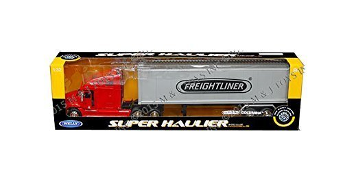Welly Freightliner Columbia Super Hauler Tractor Truck and Trailer 1/32 Scale Diecast Model (Freightliner Box Truck)