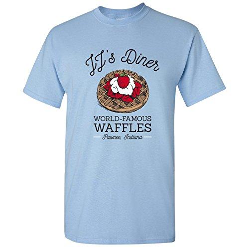 JJ's Diner - Leslie World's Best Waffles TV Show T Shirt - Small - Light Blue