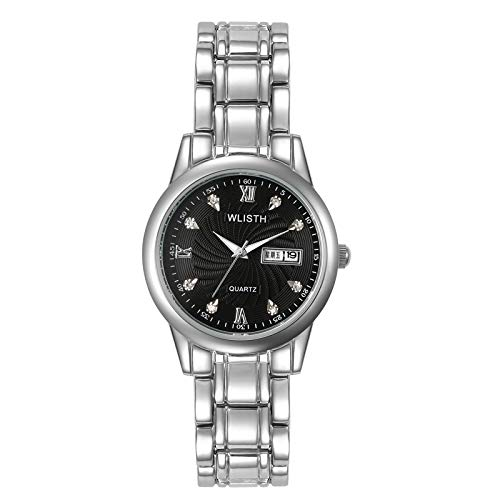 (Women's Diamond Shining Bling Starry Sky Magnetic Buckle Bracelet Watches LED Watch with Timer)