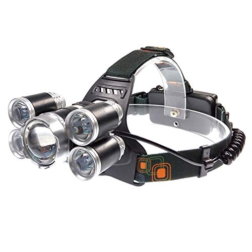 1 Set 1000 Lumen 30W 4 Mode CREE XM-L T6 LED Headlamps Ultra Xtreme Waterproof Headlights Massive Fashionable High Lumens Bright Light Hiking Running Hunting Camping Tactical Flashlight