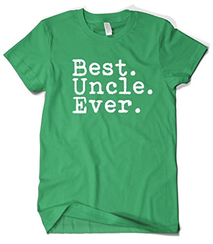 Uncle Green T-shirt (Cybertela Men's Best Uncle Ever T-shirt (Kelly Green, Large))