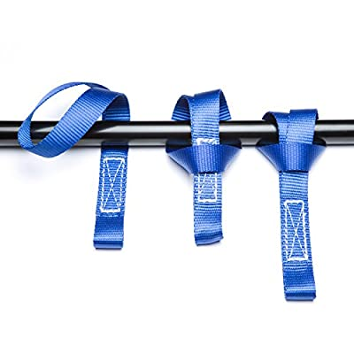 Premium LOCKDOWN Ratchet STRAPS-3372 lbs Max Break Strength (4 Pack) 15 ft - Includes 4 Soft Loop Anchoring Straps and Storage Bag – Heavy Duty Tie Downs for Household Goods & Motorized Vehicles