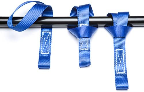 Premium LOCKDOWN Ratchet Straps- 3,372 lbs Max Break Strength (4 Pack) 15 ft - Includes 4 Soft Loop Anchoring Straps and Storage Bag – Heavy Duty Tie Downs for Household Goods & Motorized Vehicles