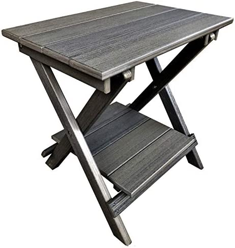 DURAWEATHER POLY Classic King Size Folding End Table 21×14