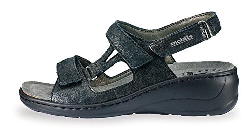 Mephisto Women's Jasmine Wedge Sandal,Black Fashion,10 M US by Mephisto