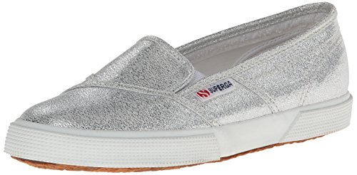 Superga Women's 2210 Lame Fashion Sneaker,Silver,39.5 EU/8.5 M US