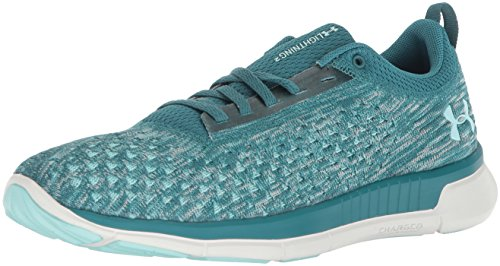 Under Armour Women's Lightning 2 Running Shoe, Desert Sky (300)/Loft Teal, 8