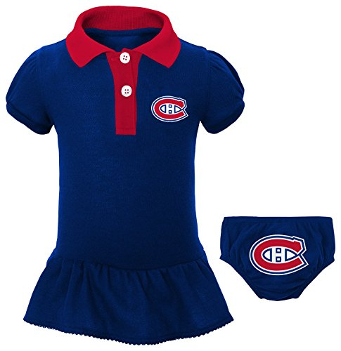 Outerstuff NHL Montreal Canadiens Newborn & Infant Little Prep Polo & Diaper Cover Set, 6-9 Months, True Navy
