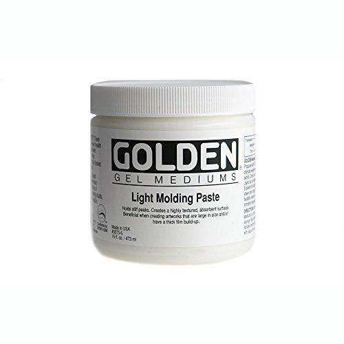 Golden Light Molding Paste - Golden Acryl Med 16 Oz Light Molding Paste