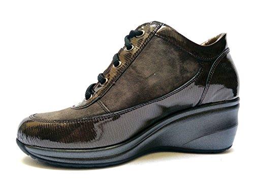 para cordones de Plomo 38 MELLUSO mujer Zapatos qE0nWwzt