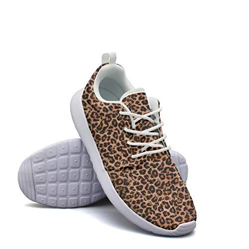 Leopard Cheetah Print Classic Brown Sneakers for Womens Spring Quick-Drying Running Shoes Girls (Cheetah Print Hoodie)