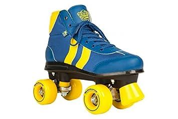 ef1a1f59208 Rookie Retro Rollerskates - Blue / Yellow: Amazon.co.uk: Sports ...