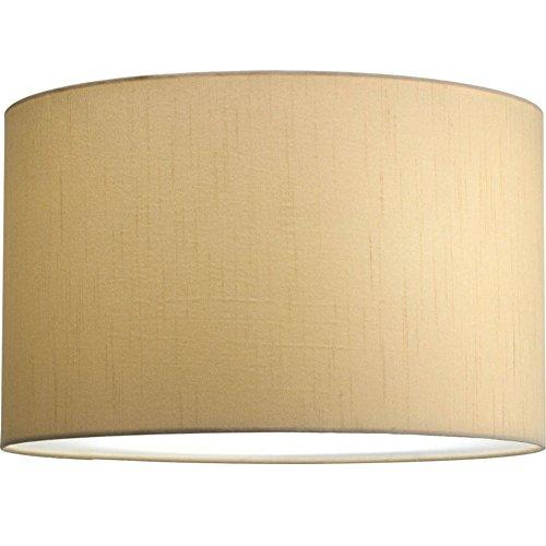 Progress-Beige Silk Drum Shade Pendant-P8823-01 by Progress Lighting