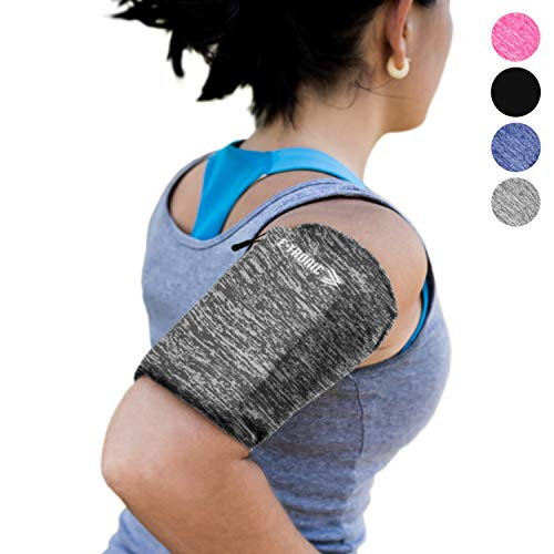 Phone Armband Sleeve: Running Jogging and Workout Cellphone Holder: Fitness Gear & Accessories for Women & Men iPhone 8 8plus X XR XS MAX 7 Plus 5s 6s iPod Galaxy S3 S5 S6 S7 S8 Note Edge Gray (SM) from E Tronic Edge