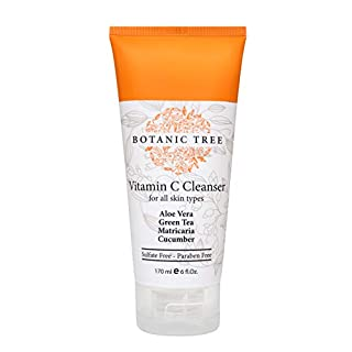 Facial Cleanser Vitamin C Face Wash- Perfect For Double Cleansing w/ Glycolic Acid Face Wash- Anti Aging, Breakout & Blemish, Wrinkle Reducing-Clear Pores on All Skin Types with Organic & Natural Ingredients- Sulfate Free