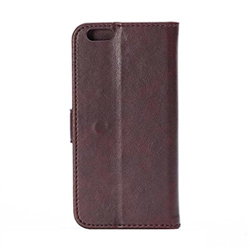 iPhone 6 Hülle,Apple iPhone 6 Hülle (4.7 Zoll) Lifetrut®[FM Hellbraun] Flip Case mit lebenslanger Garantie + Kartenfächern & Standfunktion