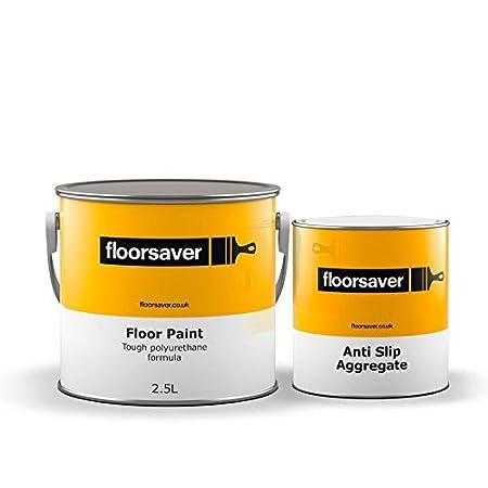Floorsaver Concrete Floor Paint Light Grey 2.5 Litre Anti Slip: Amazon.co.uk: DIY & Tools