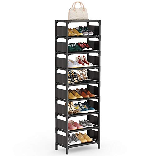 Tribesigns 8 Tiers Shoe Rack, Vertical Shoe Shelf 16 Pairs Shoe Storage Organizer Space Saving