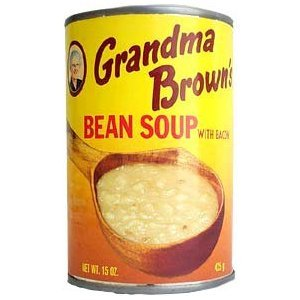 Grandma Brown's Bean Soup with Bacon - 15 oz (Brown Bean Recipe)