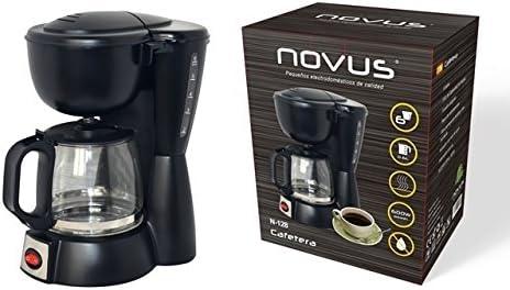 JPWonline - Cafetera eléctrica 4-6 tazas NOVUS N-128: Amazon.es: Hogar