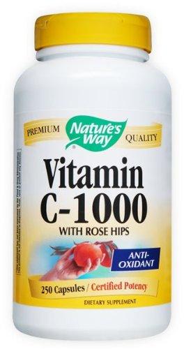 Nature Way Vitamine C 1000 avec Rose Hips, 250 Capsules