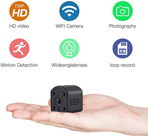 SOWELL HD Mini WiFi Camera 720P HD WiFi Security Camera for iPhone Android Phone iPad Baby Video Monitor Two Cameras WiFi Remote Control 2.4G WiFi for Baby Monitor