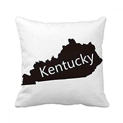 Kentucky America USA Map Silhouette Square Throw Pillow Insert Cushion Cover Home Sofa Decor Gift