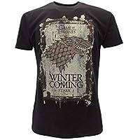 T-Shirt Camiseta Winter IS Coming Familia Casa Stark Serie de Televisión Juego DE Tronos Game of Thrones - 100% Oficial…