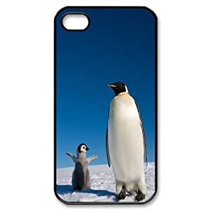 Cute Penguins Pattern Hard Snap Phone Case For For Iphone 4,4S Case color17