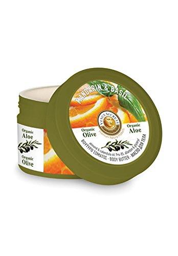 Körperbutter Mit Mandarin & Basilikum- Körper Feuchtigkeitscreme für Trockene Haut - 280 ml - von Venus Secrets Naturkosmetik - versorgt Sie mit einer reichhaltigen und langanhaltenden Hydration - stellt die natürliche Feuchtigkeit der Haut wieder her und macht sie zart und geschmeidig.
