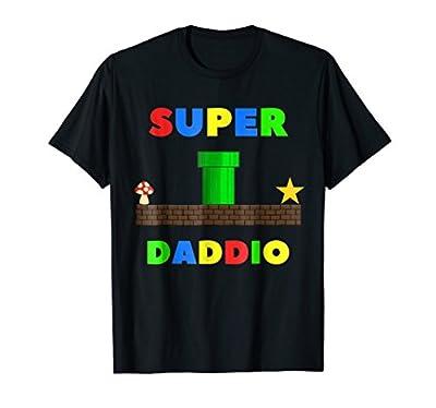 Mens Nerdy Dad Inc. Super Daddio Funny T-Shirt