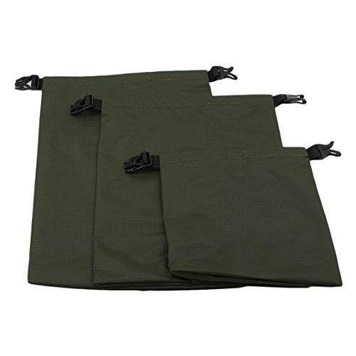 Rurah Drifting Three-Piece Waterproof Bag Waterproof Dry Bag Sack for for Boating, Hiking, Rafting, Fishing, Outdoor,ArmyGreen (Snow Drifting)