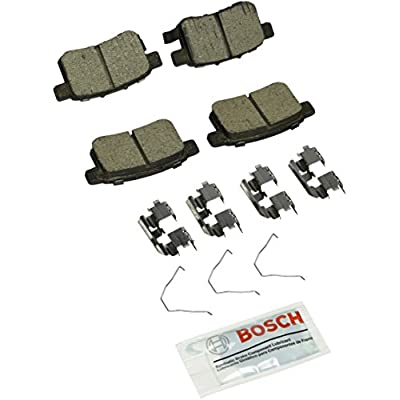 Bosch BC1451 QuietCast Premium Ceramic Disc Brake Pad Set For: Acura TSX; Honda Accord, Rear: Automotive