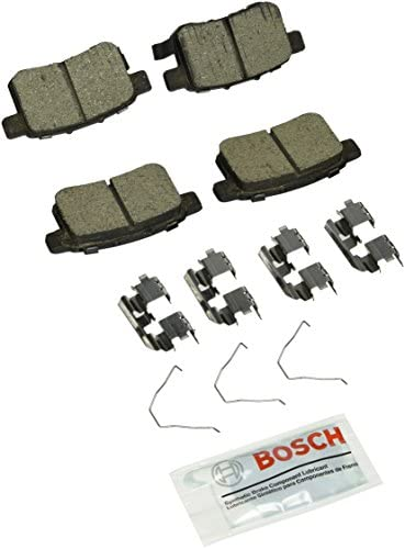 Bosch BC1451 QuietCast Premium Ceramic Disc Brake Pad Set For: Acura TSX; Honda Accord, Rear