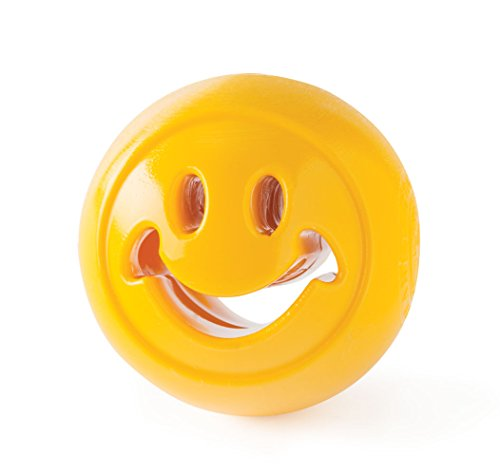 - Planet Dog Orbee Tuff Smiley Face Nooks, Interactive Durable Treat Dispensing Dog Puzzle Toy, Made in the USA, Yellow