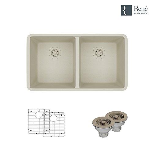 Beige Double Bowl Faucet - 1
