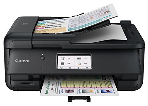 Canon PIXMA TR8520 Wireless Home Office All-In-One Printer with Scanner, Copier and Fax: Airprint and Google Cloud Compatible, Black