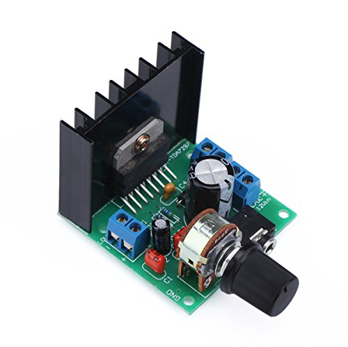 2PCS TDA7297 30W Digital Amplifier, 15W+15W Dual Channel Power Amplifi Board Audio Component Amplifier, 12V DC Mini Stereo Amp Amplify Module for Home Car Vehicle Auto Computer DIY Speaker