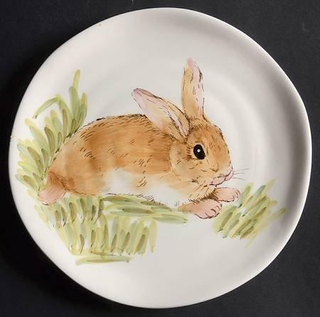 Maxcera Easter Watercolor Bunny Round 9-3/8