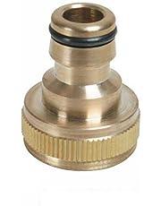 Silverline 598438 messing kraanaansluitstuk 3/4-inch en 1/2 inch -BSP-buitendraad