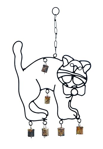 Benzara Cute Wind Chime with a Cat Design
