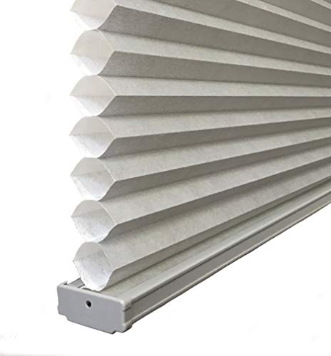 BlindDen Gray, Light Filtering Cellular/Honeycomb Shades, 70' Wide x 48' Long, Cordless