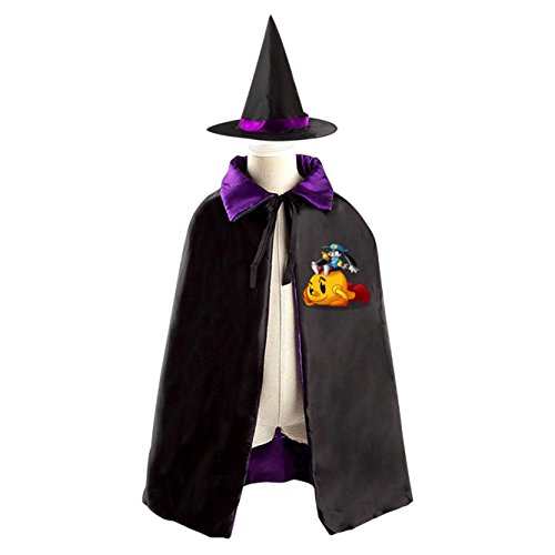 All Saints' Day Wizard Mantle Hat Costumes Print With Pacman Logo For Kids Cosplay In Halloween - Raiders Cheerleader Costumes